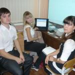К.Морецкая, Д.Яковлев, В.Сорокина вели урок для учителей.